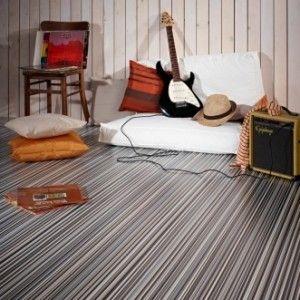 Bubblegum Cushioned Vinyl Flooring Roll Stripes 095