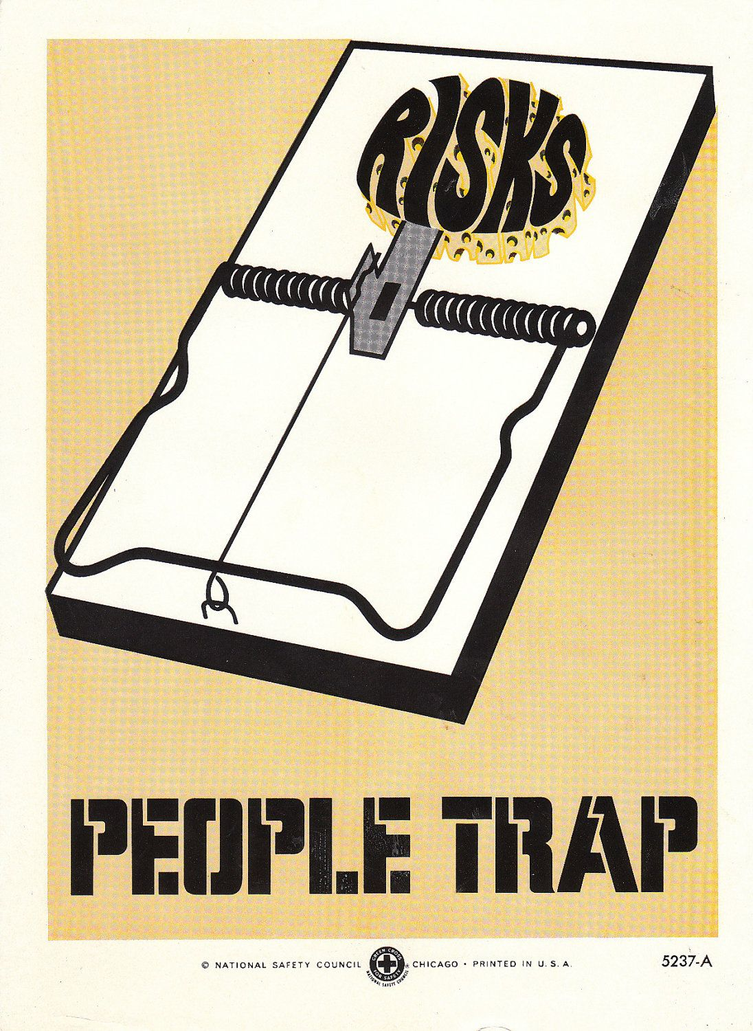 Vintage Work Safety Poster People Trap. 14.95, via Etsy