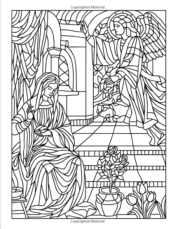 Amazon.com: Mysteries of the Rosary: A Catholic Coloring Devotional ...