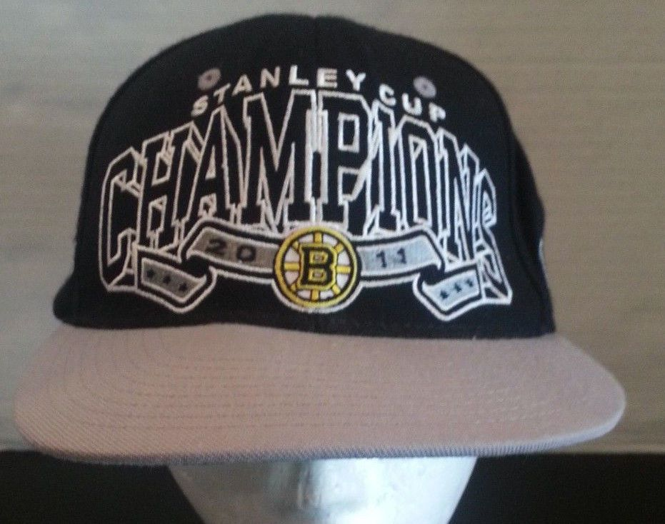authentic popular brand official images Boston Bruins Hat Official NHL Stanley Cup Champions 2011 Cap ...