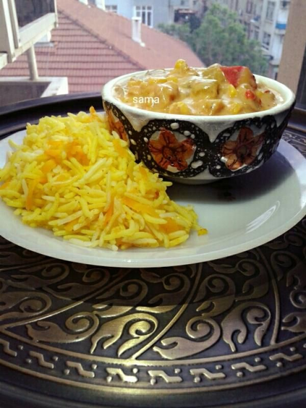 دجاج بالكاري والخضار Chicken Curry With Vegetables