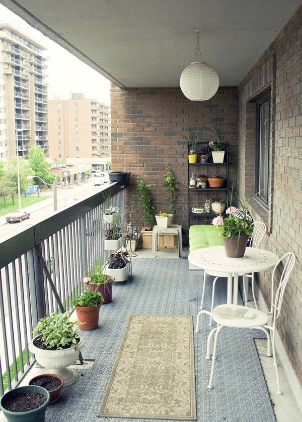 52 Smart Decorating Ideas for Small Balcony | Balconies, Patios and ...