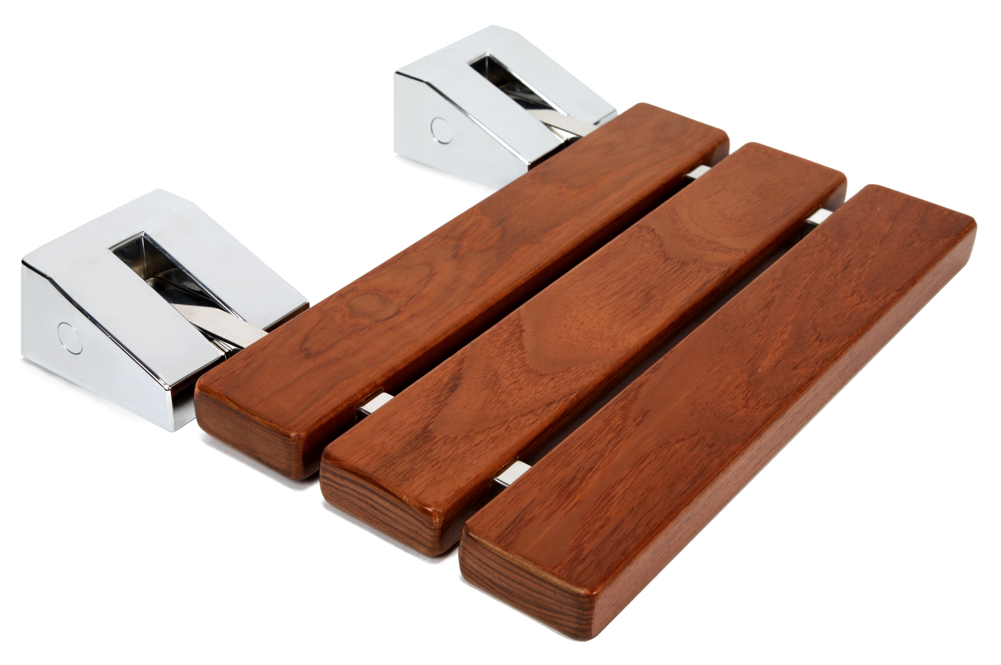 Kenley Folding Shower Seat Wooden Wall Mounted Bench Bathroom Stool ...