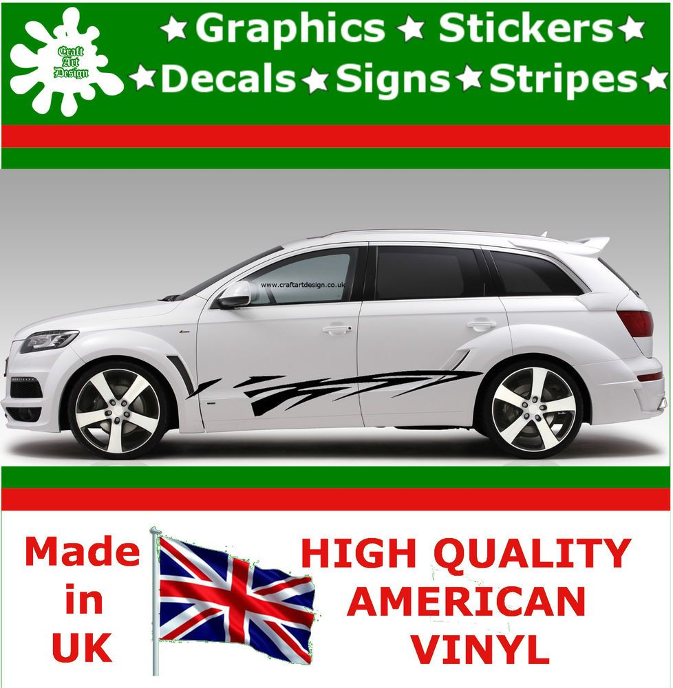 High Car Side Stripes Graphic Decal Vinyl Stickers Van Auto - Vinyl decals for race carsbmw race car wraps by graphios