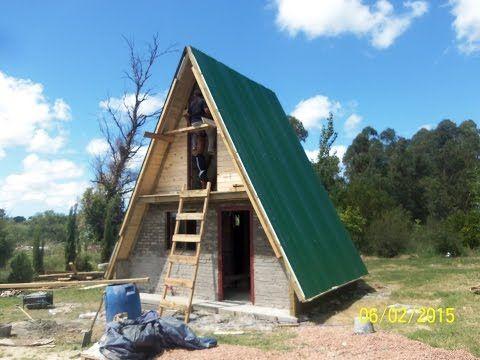 Caba a alpina madera tronco ladrillos a frame house for Decoracion de casas de 36 metros cuadrados