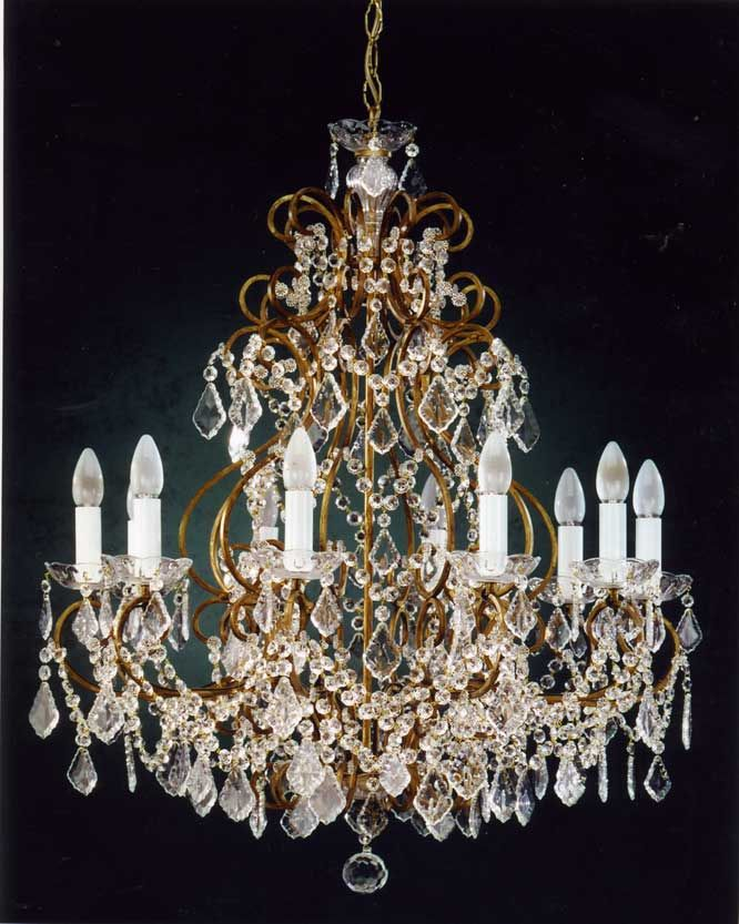 Lampadari classici 125 di ferroluce lampadari for Lampadari classici