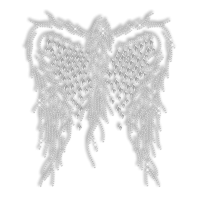 Hotfix Rhinestone Design Wings Transfer for Clothing - CSTOWN