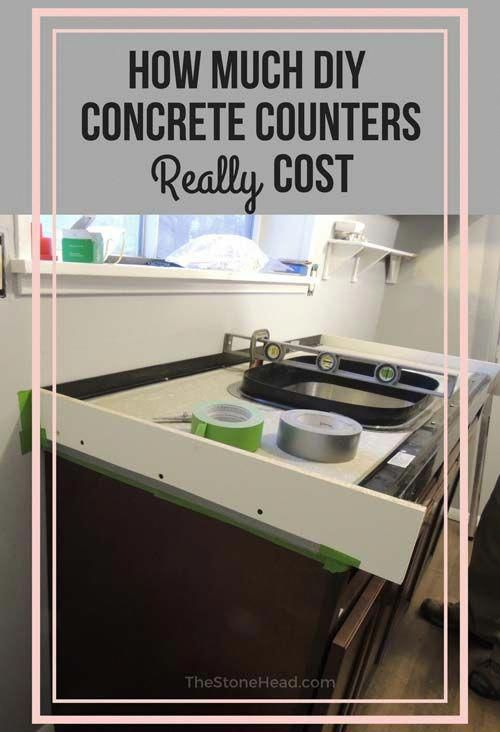 How Much Do Concrete Counters Cost? | Diy concrete ...