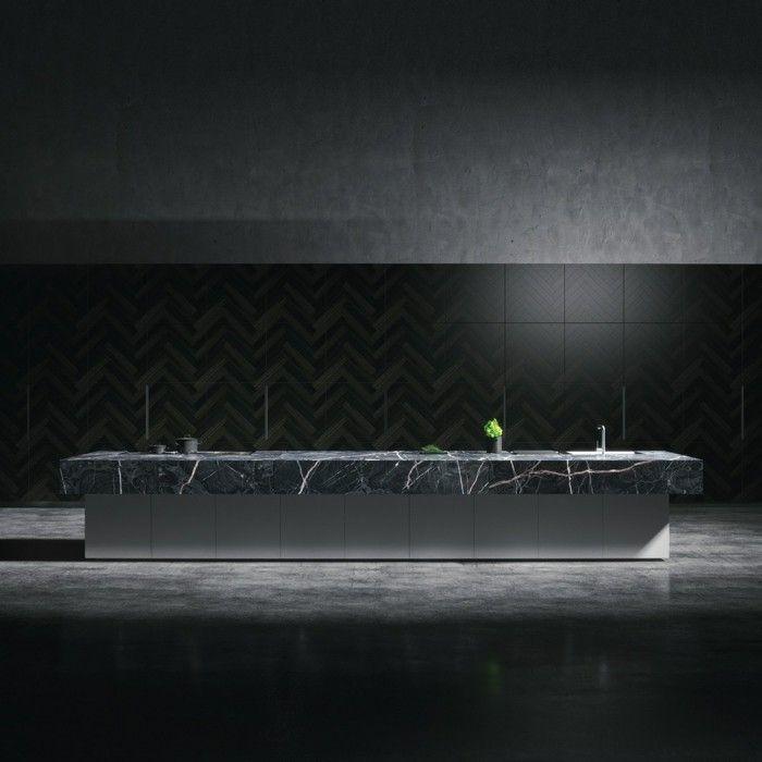 Kücheneinrichtung in trendigem Schwarz | Kücheneinrichtung ...