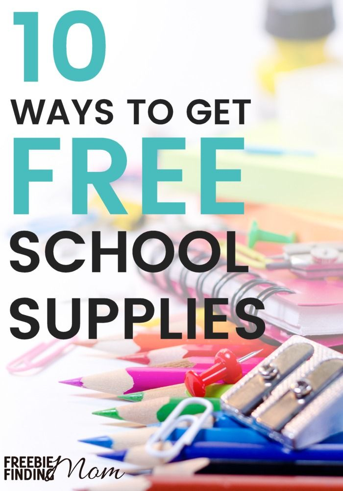 Photo of Free School Supplies By Mail or In Person – Freebie Finding Mom