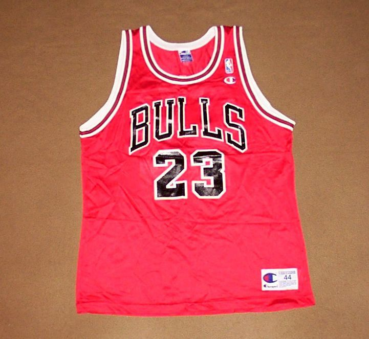 outlet store 9d38c 2f3c1 Chicago Bulls JERSEY Michael Jordan CHAMPION Air NBA ...