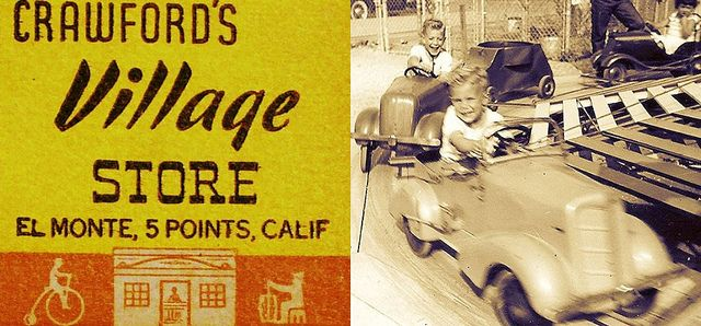 Crawford's El Monte, 1951. Shopping, rides for the kids...a dream every Saturday for a little kid!