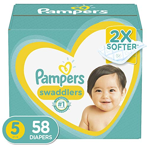 Diapers Size 5, 58 Count Pampers Swaddlers Disposable