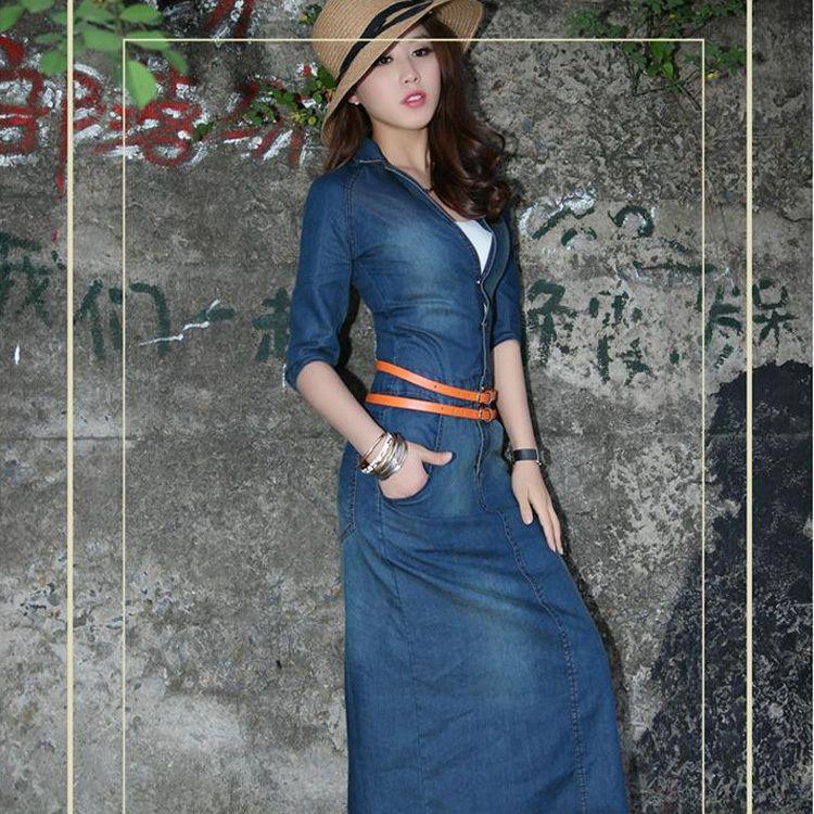 Vestidos de jeans mujer largos