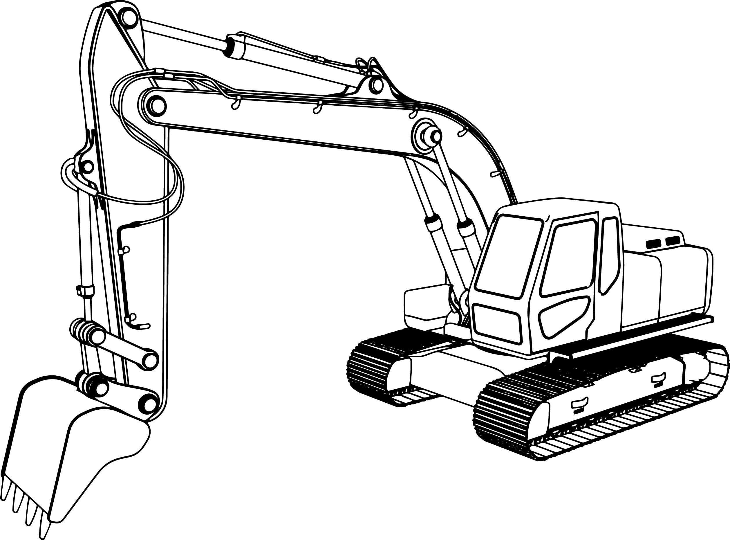 Excavator Coloring Page Zip Background