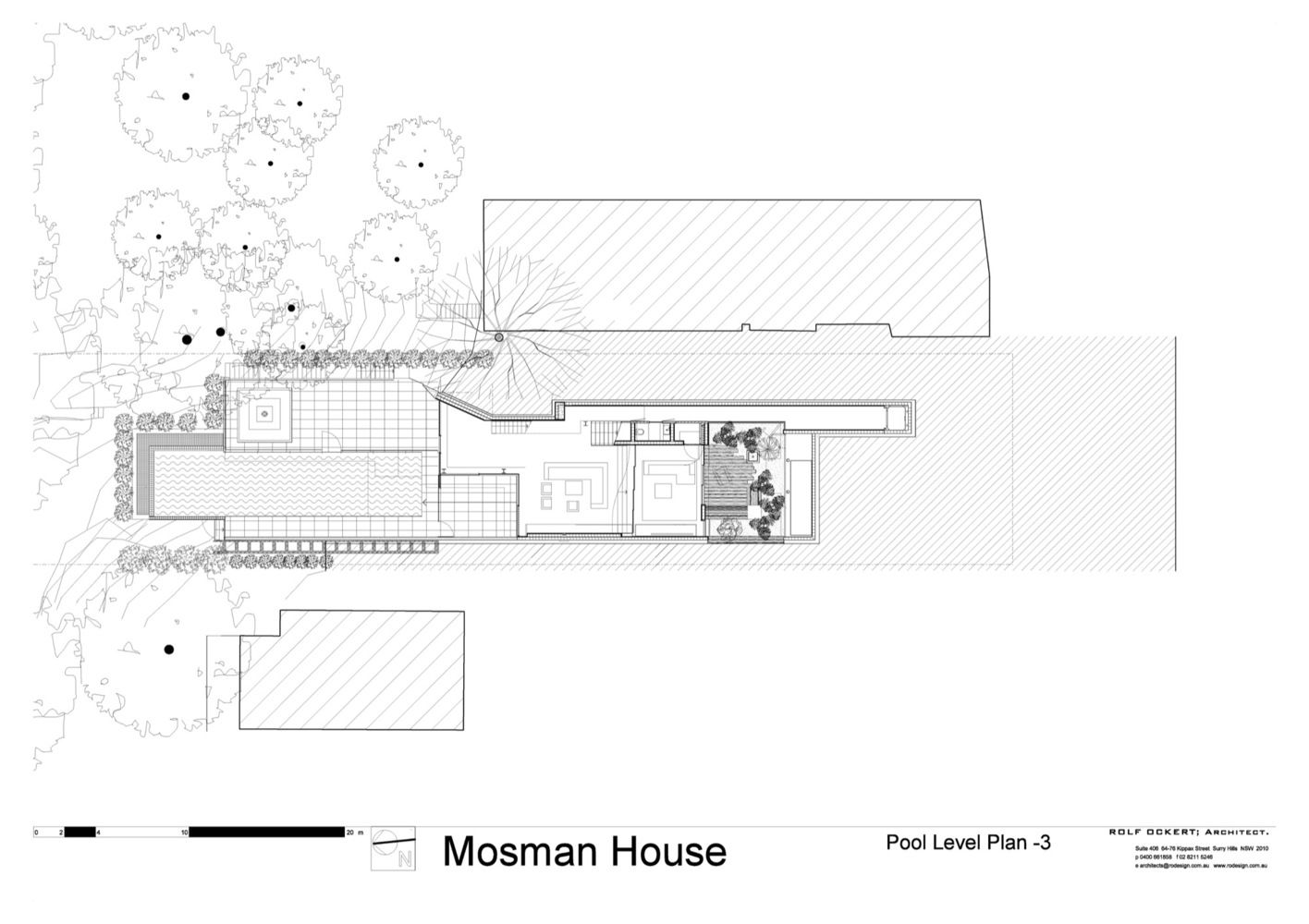 Gallery Of Mosman House Rolf Ockert Architect 38 Architect Site Plan House