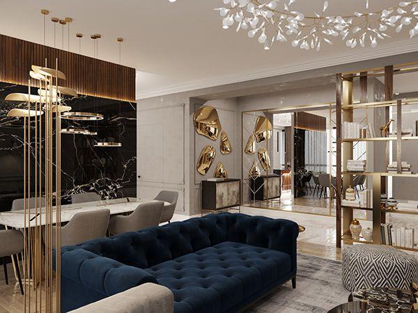 Apartment Yerevan Armenia On Behance Restoration Hardware Style Living Room Living Room Decor Modern Luxury Furniture Living Room