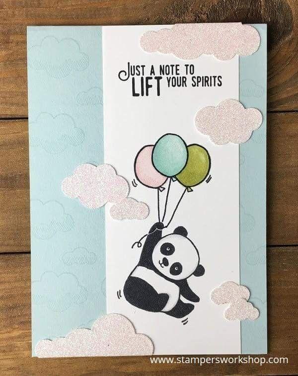 Pin By Tina Reeves On Stampin Up Cards Panda Card Birthday Card Drawing Panda Birthday Cards