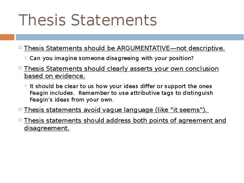 thesis statement template  writing a thesis statement