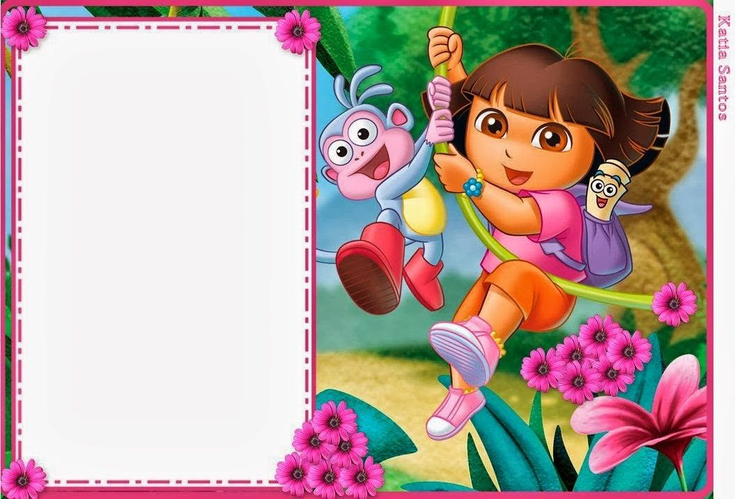 Oh My Fiesta In English Dora The Explorer Free Printable Invitat Kids Birthday Invitations Printable Birthday Party Invitations Free Explorer Birthday Party