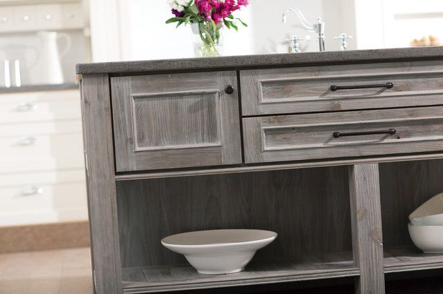 Grey Stained Wood Cabinets *M*