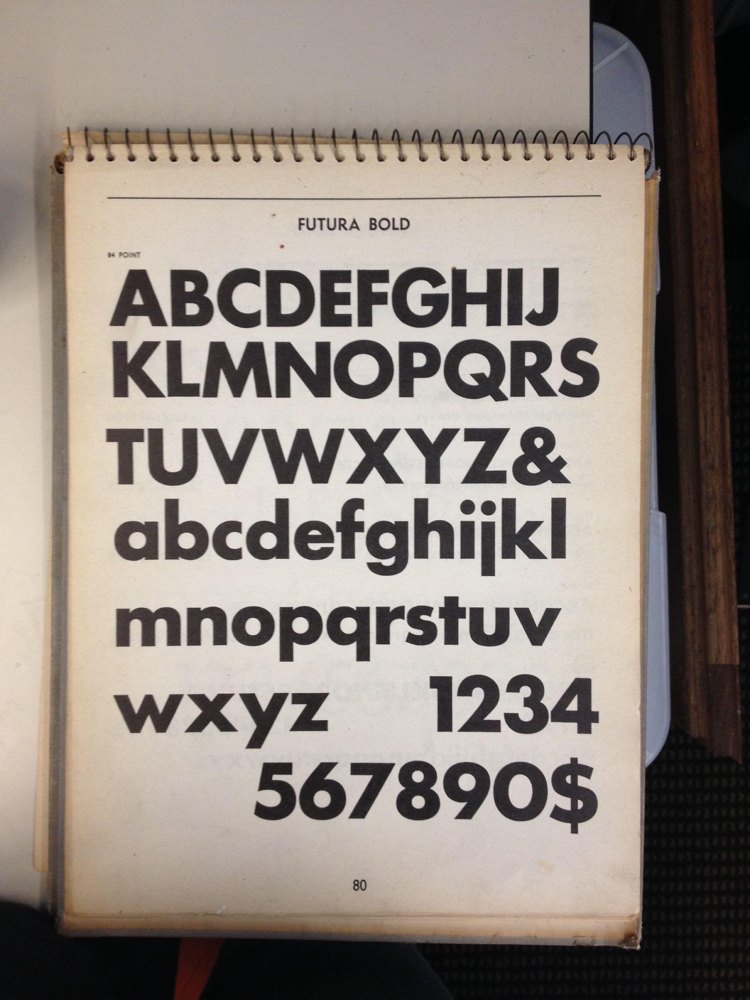 futura bold, vintage type specimen book | Vintage Type Specimens