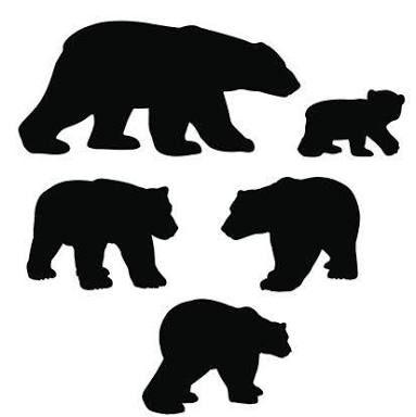Pin By Gloria Ahrens On Animals Silhouette Images Bear Silhouette Polar Bear Craft Bear Clipart