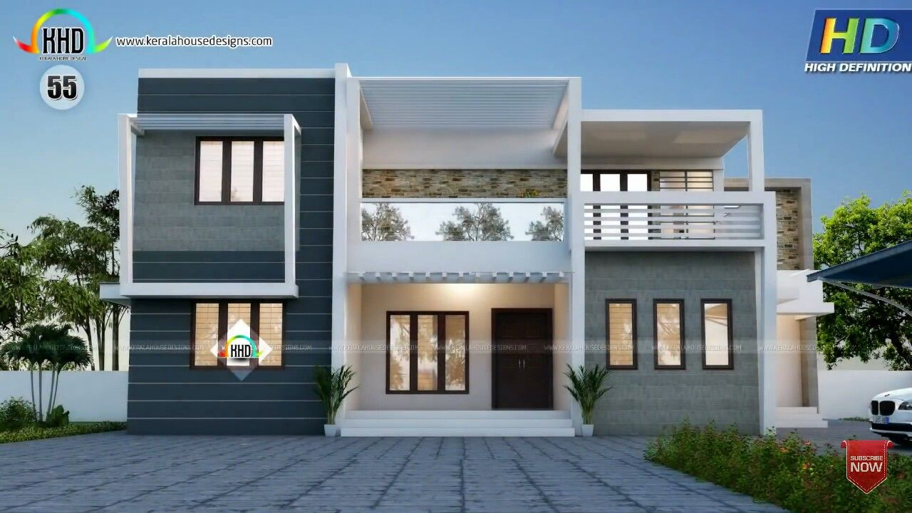 Attractive bedroom flat roof house building elevation in pinterest plans and design also rh