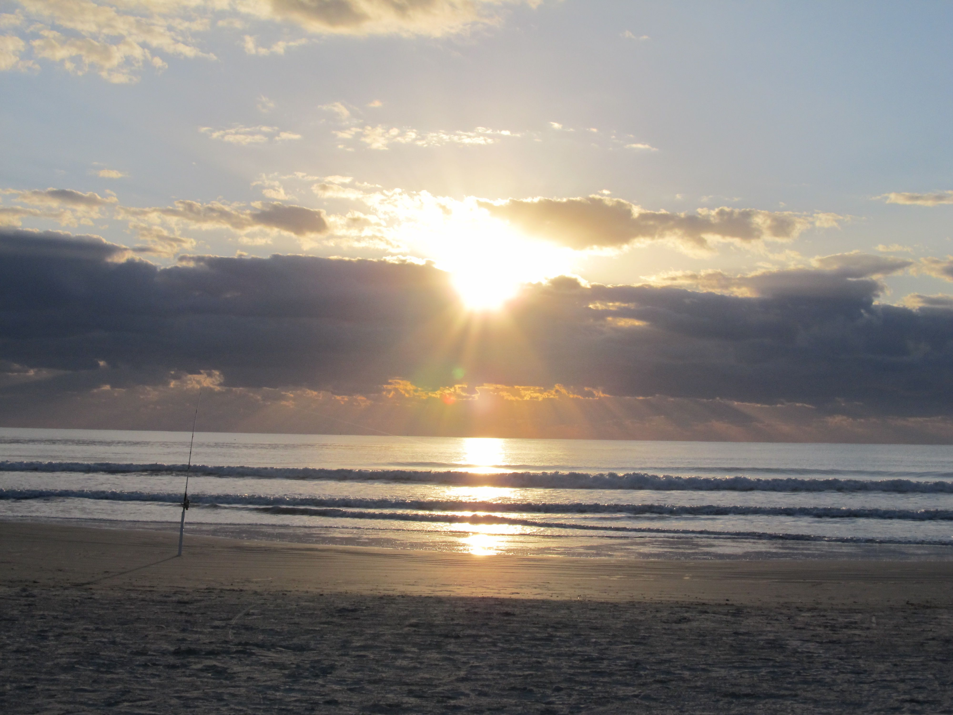 Early morning sunrise on the beach, Cape Canaveral,Florida
