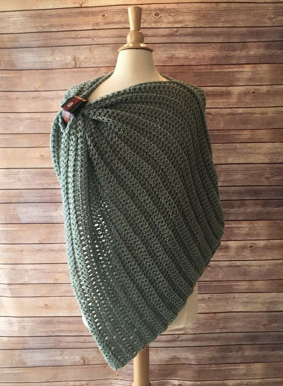 All Year Cover Up - FREE Crochet Pattern | Ponchos, Tejido y Chal
