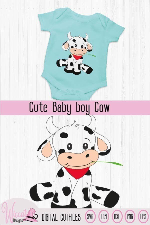 baby boy cow for baby nursery, Heifer baby, farm animal svg (730898)   Cut Files   Design Bundles