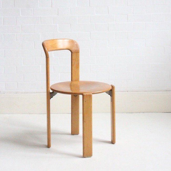 Paos Furniture Hato Rey: Image Of Bruno Rey Stacking Chair C1970 (set Of Four