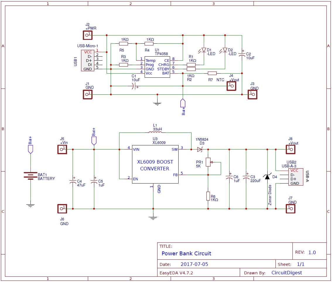 power bank pcb circuit diagram for charging mobiles [ 1134 x 962 Pixel ]