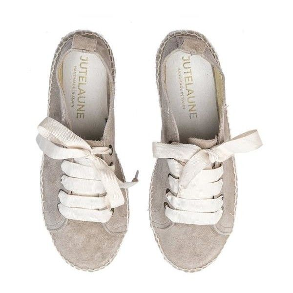 Lace Up Espadrilles ($98) ❤ liked on Polyvore featuring shoes, sandals, leather sandals, leather lace up sandals, leather shoes, platform shoes and lace up platform sandals