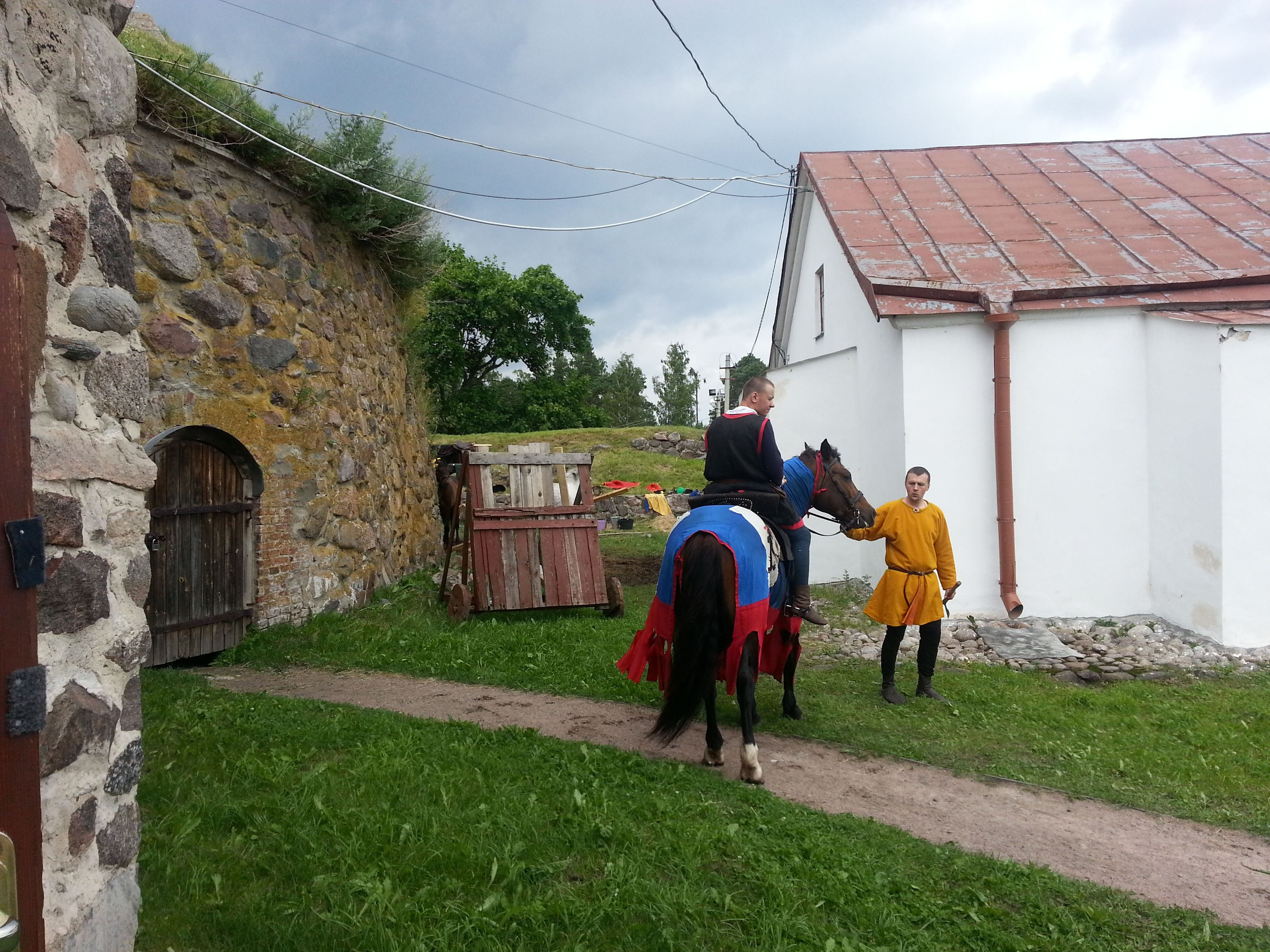 Middle Ages festival. Priozersk. Russia.