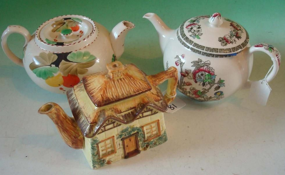vintage johnson brothers TEAPORS | LOT 81 - 3 Various Teapots: To Include Johnson Brothers Indian...