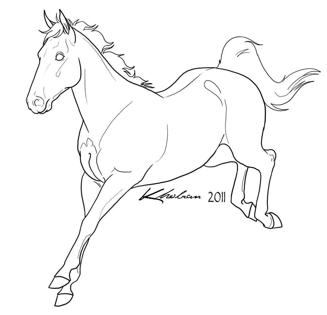 sport horse lineart by kholrandeviantartcom on deviantart
