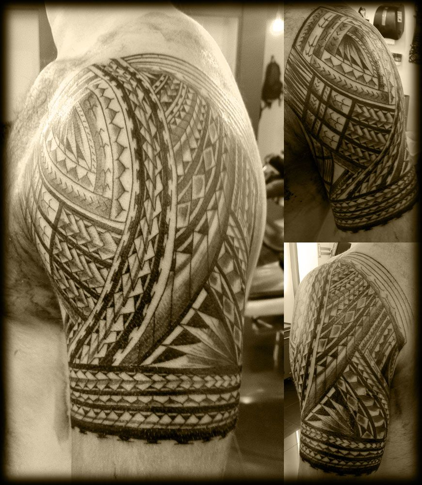 Custom Full Wrap Samoan Half Sleeve Pacific Island Upper