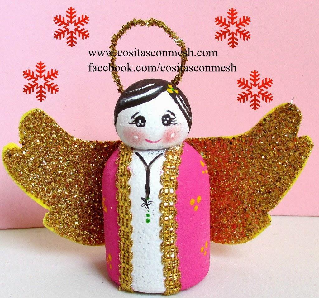 C mo hacer un angelito con botellas recicladas botellas - Angeles de navidad manualidades ...