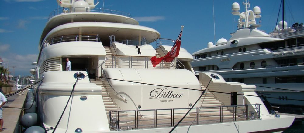 Superyacht Dilbar Owned By Alisher Usmanov Yacht Super Yachts Big Yachts