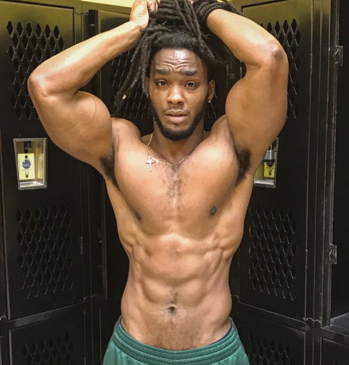 Sexy gay black men with dreads
