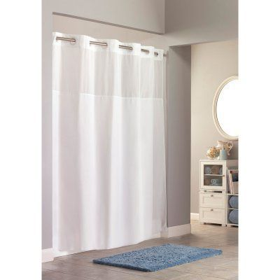 Hookless Mystery Shower Curtain With Snap On Liner