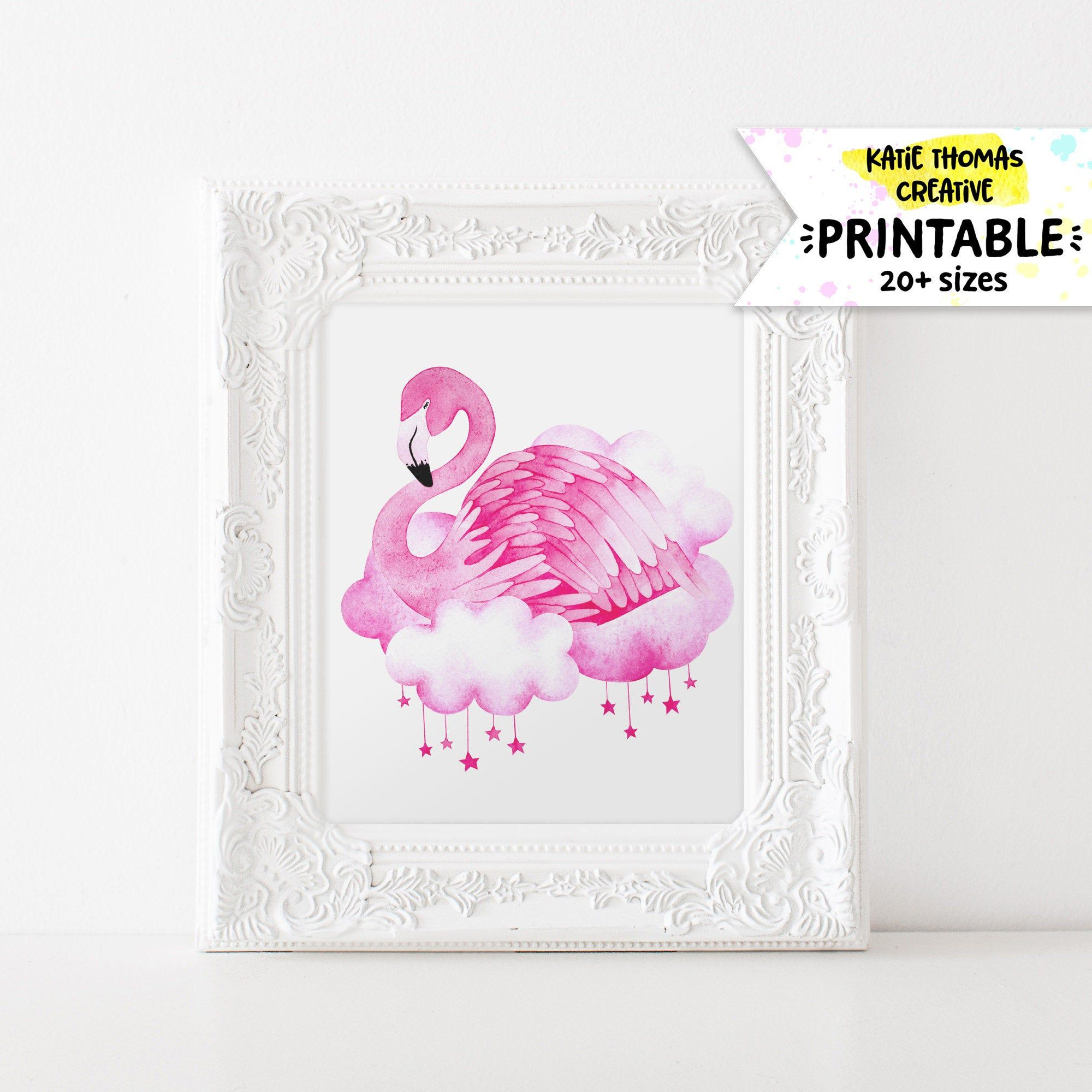 Flamingo Wall Art Pink Flamingo Decor Flamingo Print Bird Wall Art Baby Shower Gifts Baby Girl Nursery Flamingo Wall Art Pink Flamingo Decor Bird Wall Art