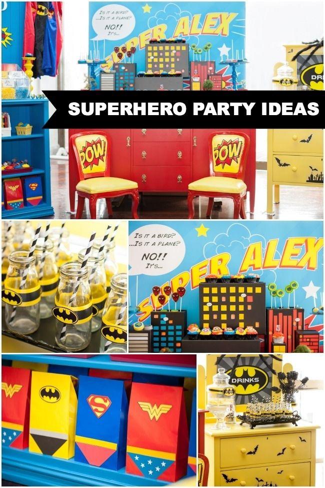 Superhero Birthday Party Ideasspaceshipsandlaserbeams