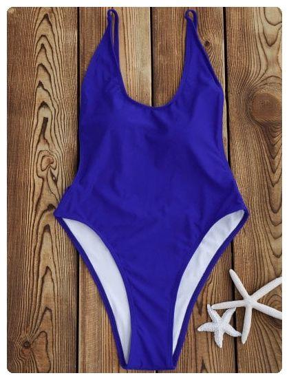 3756ffa89c683 Backless High Cut One Piece Swimsuit (Sapphire blue)