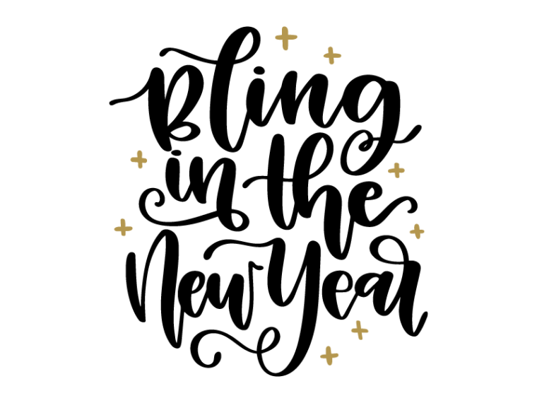 Free Bling in the New Year SVG DXF PNG & JPEG Vinyl
