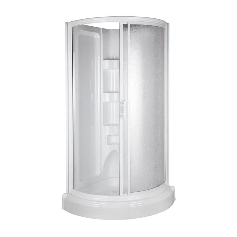 Mirolin 78 in h x 37 3 4 in w x 37 3 4 in l mirolin white - Corner shower units for small bathrooms ...