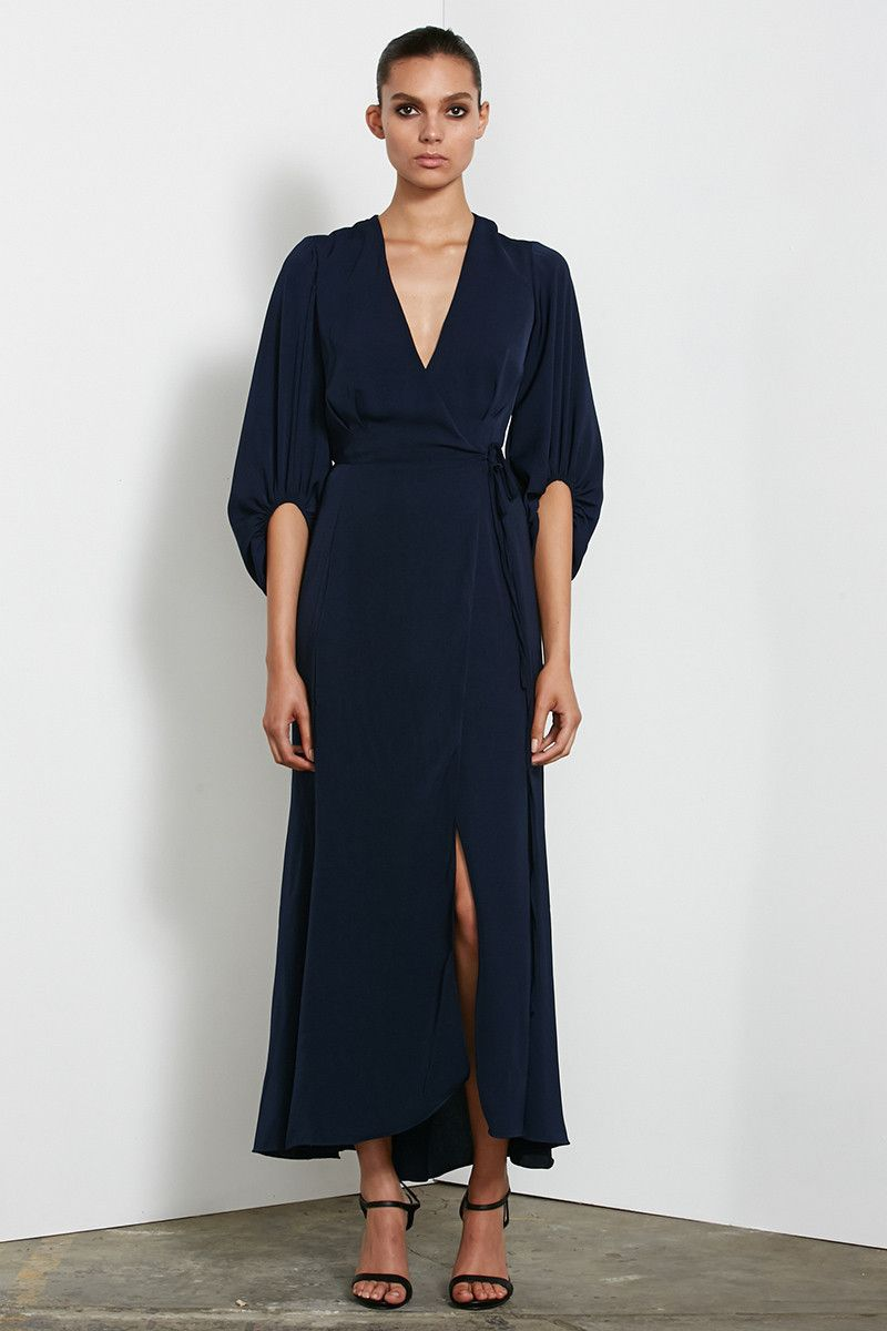 Shona Joy - Monique Long Sleeve Wrap Dress | Shona Joy | Pinterest ...