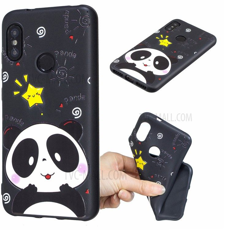 Fashionable Pattern Printing Embossed Soft Tpu Mobile Cover For Xiaomi Mi A2 Lite Redmi 6 Pro Mobile Covers Xiaomi Cute Tshirt Designs