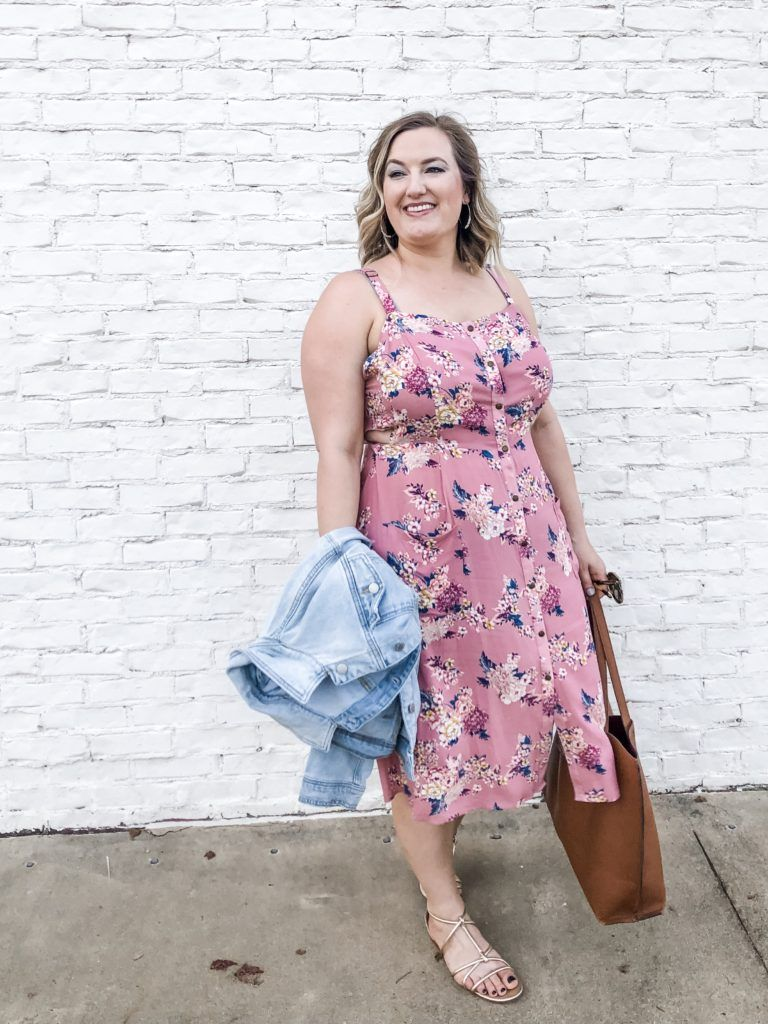 Target Spring Floral Dress With Flat Gold Sandals Spring Fashion Summer Fashion Outfits Affordable Summer Dresses [ 1024 x 768 Pixel ]